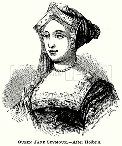 Queen Jane Seymour. Illustration from The Comprehensive History of England (Gresham Publishing, 1902).