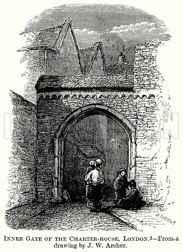 Inner Gate of the Charter-House, London. Illustration from The Comprehensive History of England (Gresham Publishing, 1902).