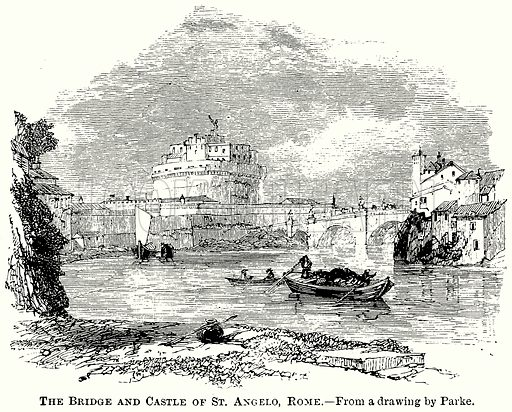 The Bridge and Castle of St Angelo, Rome. Illustration from The Comprehensive History of England (Gresham Publishing, 1902).