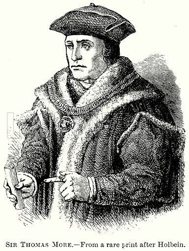 Sir Thomas More. Illustration from The Comprehensive History of England (Gresham Publishing, 1902).
