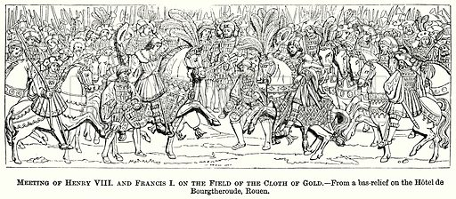 Meeting of Henry VIII and Francis I on the Field of the Cloth of Gold. Illustration from The Comprehensive History of England (Gresham Publishing, 1902).