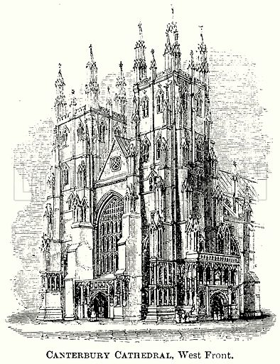 Canterbury Cathedral, West Front. Illustration from The Comprehensive History of England (Gresham Publishing, 1902).