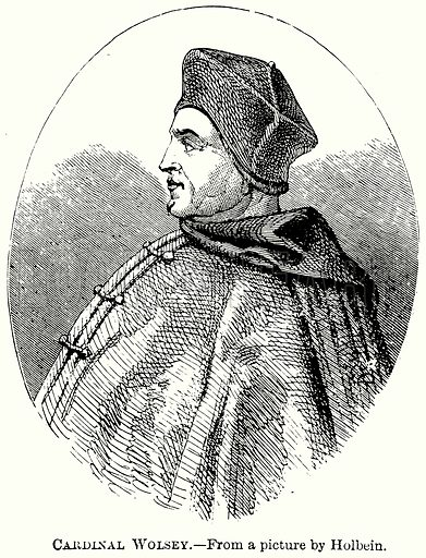 Cardinal Wolsey. Illustration from The Comprehensive History of England (Gresham Publishing, 1902).