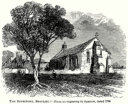 The Refectory, Beaulieu. Illustration from The Comprehensive History of England (Gresham Publishing, 1902).