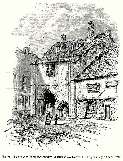 East Gate of Bermondsey Abbey. Illustration from The Comprehensive History of England (Gresham Publishing, 1902).