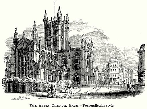 The Abbey Church, Bath. – Perpendicular Style. Illustration from The Comprehensive History of England (Gresham Publishing, 1902).