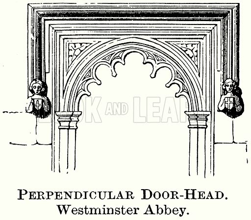 Perpendicular Door-Head. Westminster Abbey. Illustration from The Comprehensive History of England (Gresham Publishing, 1902).