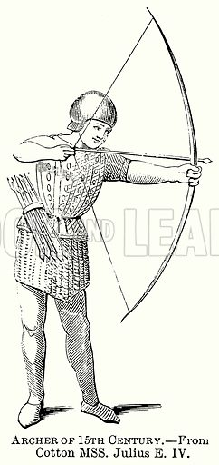 Archer of 15th Century. Illustration from The Comprehensive History of England (Gresham Publishing, 1902).