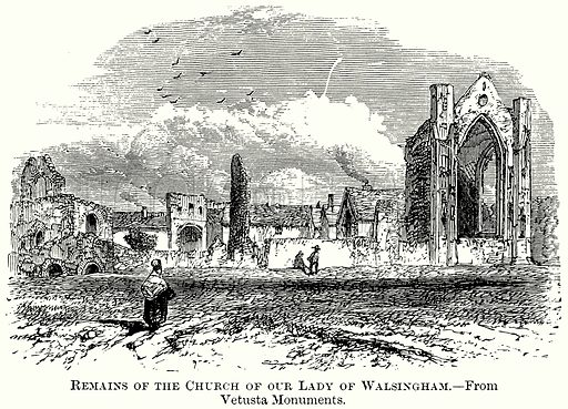 Remains of the Church of Our Lady of Walsingham. Illustration from The Comprehensive History of England (Gresham Publishing, 1902).