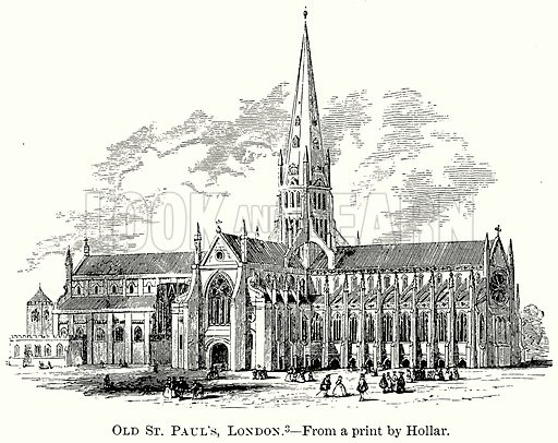 Old St Paul's, London. Illustration from The Comprehensive History of England (Gresham Publishing, 1902).