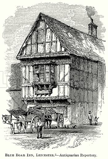 Blue Boar Inn, Leicester. – Antiquarian Repertory. Illustration from The Comprehensive History of England (Gresham Publishing, 1902).