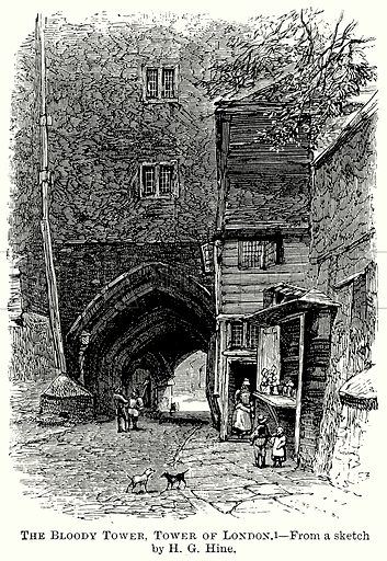 The Bloody Tower, Tower of London. Illustration from The Comprehensive History of England (Gresham Publishing, 1902).