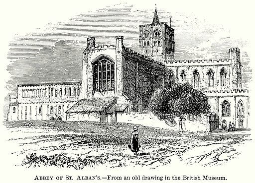Abbey of St Alban's. Illustration from The Comprehensive History of England (Gresham Publishing, 1902).