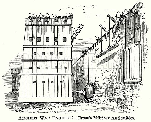 Ancient War Engines. – Grose's Military Antiquities. Illustration from The Comprehensive History of England (Gresham Publishing, 1902).