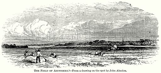 The Field of Azincourt. Illustration from The Comprehensive History of England (Gresham Publishing, 1902).