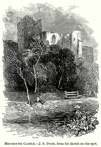 Monmouth Castle. Illustration from The Comprehensive History of England (Gresham Publishing, 1902).
