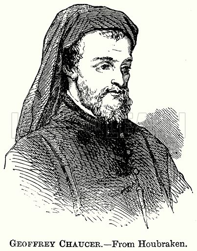 Geoffrey Chaucer. Illustration from The Comprehensive History of England (Gresham Publishing, 1902).
