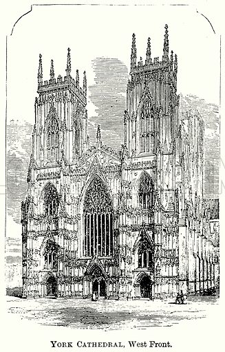 York Cathedral, West Front. Illustration from The Comprehensive History of England (Gresham Publishing, 1902).