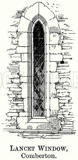 Lancet Window, Comberton. Illustration from The Comprehensive History of England (Gresham Publishing, 1902).