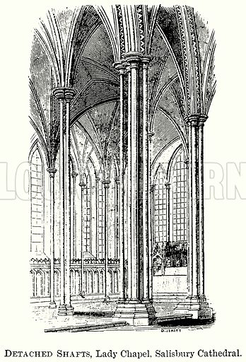 Detached Shafts, Lady Chapel, Salisbury Cathedral. Illustration from The Comprehensive History of England (Gresham Publishing, 1902).