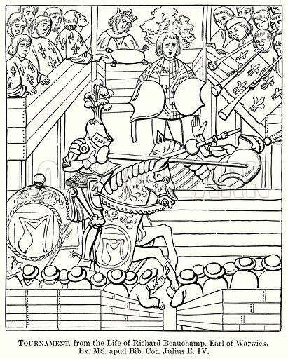 Tournament, from the Life of Richard Beauchamp, Earl of Warwick. Illustration from The Comprehensive History of England (Gresham Publishing, 1902).