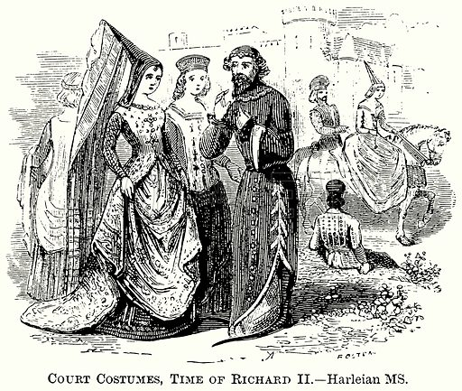 Court Costumes, Time of Richard II. Illustration from The Comprehensive History of England (Gresham Publishing, 1902).