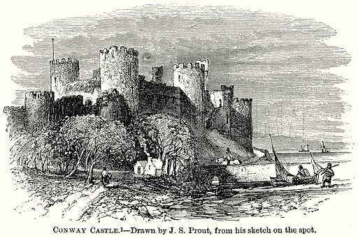 Conway Castle. Illustration from The Comprehensive History of England (Gresham Publishing, 1902).
