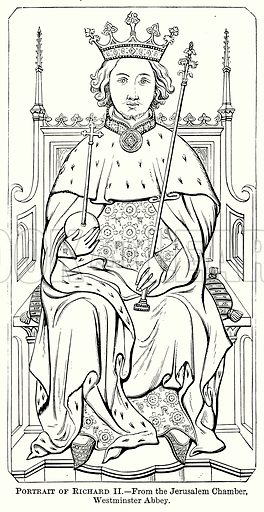 Portrait of Richard II. Illustration from The Comprehensive History of England (Gresham Publishing, 1902).