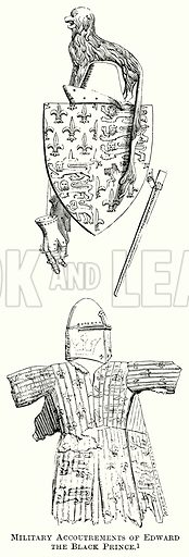 Military Accoutrements of Edward the Black Prince. Illustration from The Comprehensive History of England (Gresham Publishing, 1902).