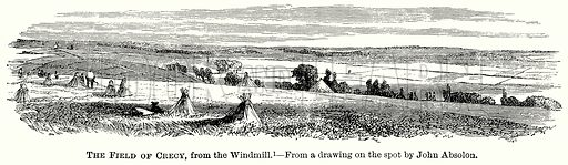 The Field of Crecy, from the Windmill. Illustration from The Comprehensive History of England (Gresham Publishing, 1902).