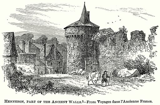 Hennebon, Part of the Anceint Walls. Illustration from The Comprehensive History of England (Gresham Publishing, 1902).