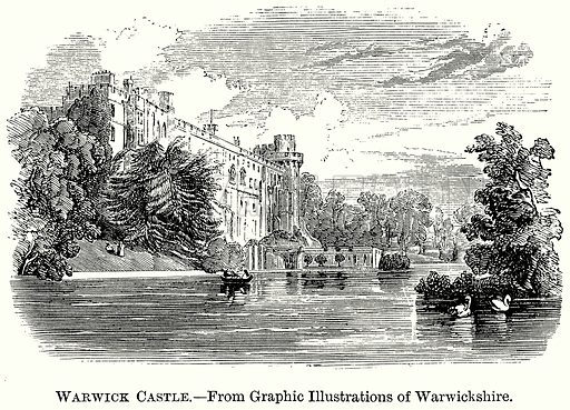 Warwick Castle. Illustration from The Comprehensive History of England (Gresham Publishing, 1902).