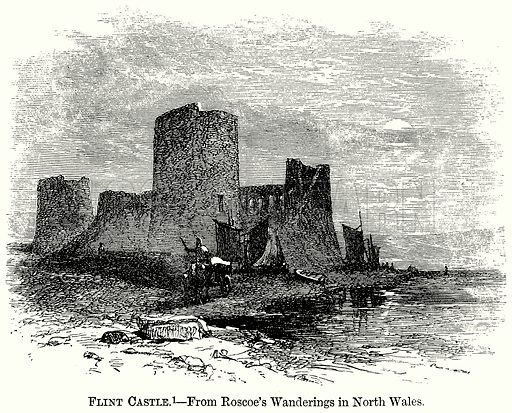 Flint Castle. Illustration from The Comprehensive History of England (Gresham Publishing, 1902).