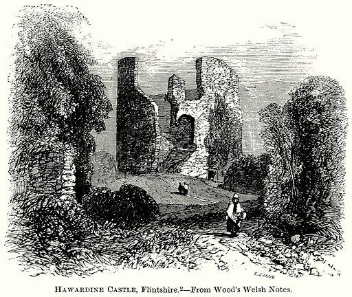 Hawardine Castle, Flintshire. Illustration from The Comprehensive History of England (Gresham Publishing, 1902).