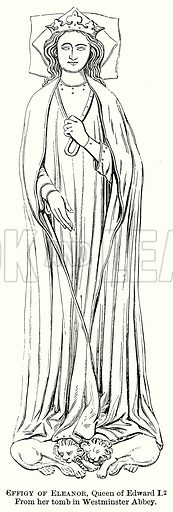 Effigy of Eleanor, Queen of Edward I. Illustration from The Comprehensive History of England (Gresham Publishing, 1902).