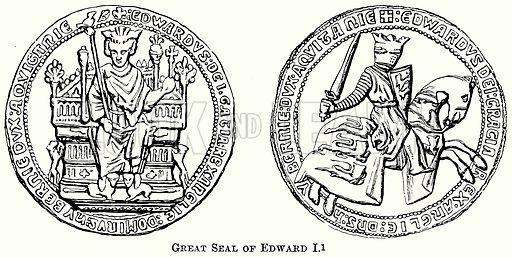 Great Seal of Edward I. Illustration from The Comprehensive History of England (Gresham Publishing, 1902).