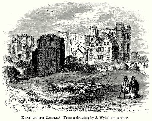 Kenilworth Castle. Illustration from The Comprehensive History of England (Gresham Publishing, 1902).