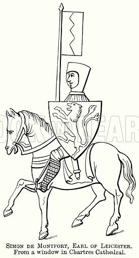 Simon de Montefort, Earl of Leicester. Illustration from The Comprehensive History of England (Gresham Publishing, 1902).