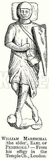 William Mareschal (the Elder), Earl of Pembroke. Illustration from The Comprehensive History of England (Gresham Publishing, 1902).