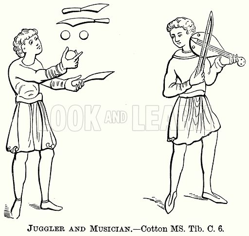 Juggler and Musician. Illustration from The Comprehensive History of England (Gresham Publishing, 1902).