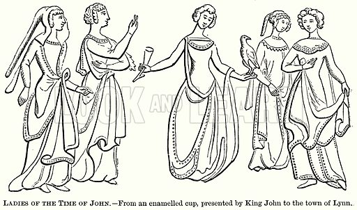 Ladies of the Time of John. Illustration from The Comprehensive History of England (Gresham Publishing, 1902).