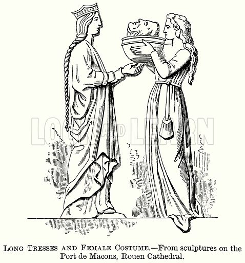 Long Tresses and Female Costume. Illustration from The Comprehensive History of England (Gresham Publishing, 1902).