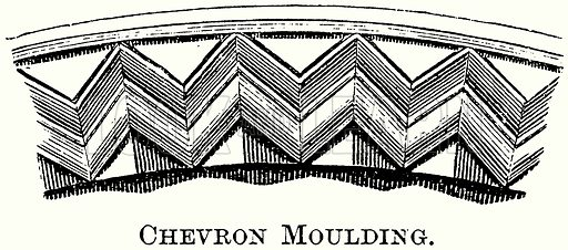 Chevron Moulding. Illustration from The Comprehensive History of England (Gresham Publishing, 1902).