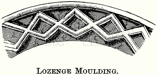 Lozenge Moulding. Illustration from The Comprehensive History of England (Gresham Publishing, 1902).