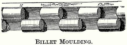 Billet Moulding. Illustration from The Comprehensive History of England (Gresham Publishing, 1902).