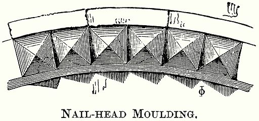 Nail-Head Moulding. Illustration from The Comprehensive History of England (Gresham Publishing, 1902).