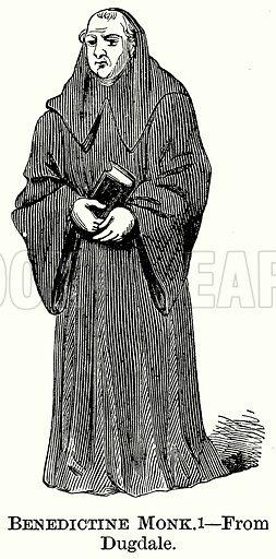 Benedictine Monk. Illustration from The Comprehensive History of England (Gresham Publishing, 1902).