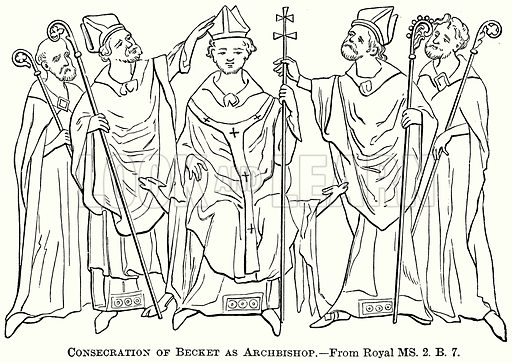 Consecration of Becket as Archbishop. Illustration from The Comprehensive History of England (Gresham Publishing, 1902).