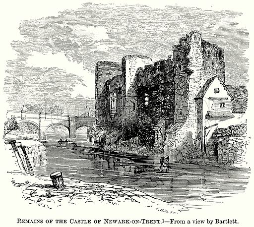 Remains of the Castle of Newark-on-Trent. Illustration from The Comprehensive History of England (Gresham Publishing, 1902).