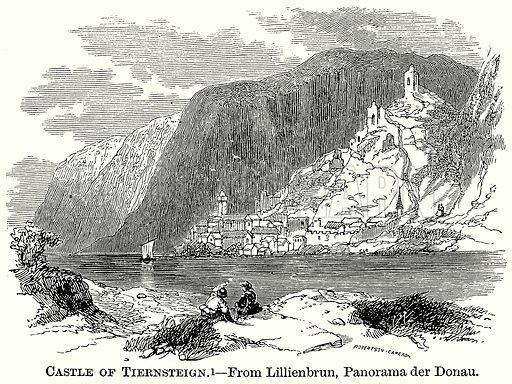 Castle of Tiernsteign. Illustration from The Comprehensive History of England (Gresham Publishing, 1902).